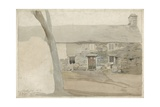 Cottages at Llanllyfni, North Wales, 1805 Giclée-Druck von Cornelius Varley