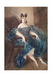 Woman Seated in an Armchair Giclee Print by Constantin Guys