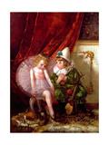 Pierrot and Pierrette Giclee Print by Edmond Louyot
