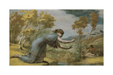 Psyche at the Stream Giclee Print by Edward Calvert