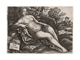 Venus Reclining in a Landscape, C. 1517 Giclee Print by Domenico Campagnola