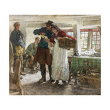 The Smugglers' News Giclee Print by Edgar Bundy