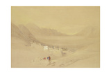 The Convent of St. Catherine, Mount Sinai, Looking Towards the Plain of the Encampment, 1839 Giclee Print by David Roberts
