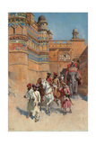 The Fort of Gwalior, Madhya Pradesh Giclee Print by Edwin Lord Weeks