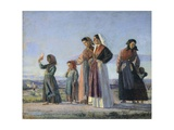 Returning from Mass, Circa 1865 Impression giclée par Cristiano Banti