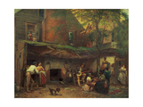 Old Kentucky Home Life in the South, 1859 Giclee Print by Eastman Johnson
