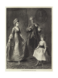 My Great-Grandmother's First Dancing Lesson Giclee Print by Ebenezer Newman Downard