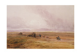 A Baggage Train Crossing a Plain Giclee Print by David Cox