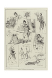 Sketches of Captain Swift at the Haymarket Theatre Giclee Print by David Hardy