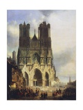 Reims Cathedral, Painting by David Roberts (1796-1864) Giclee Print by David Roberts