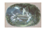 The Visit at Moonlight, 1832 Giclee Print by Edmund Thomas Parris