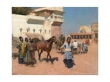 Persian Horse Dealer, Bombay, 1880s Giclee Print by Edwin Lord Weeks