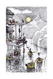 Residential Flats in Primeval Times Giclee Print by Edward Tennyson Reed