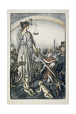 The Reign of Justice, 1917 Giclee Print by Edmund Joseph Sullivan