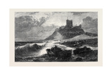 Bamborough Castle a Signal of Distress in the Offing Giclee Print by Edwin Hayes