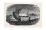 Burning of The Santa Maria Frigate in Sebastopol Harbour Giclee Print by Edward Angelo Goodall