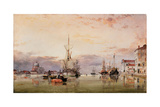 The Canale Della Giudecca with the Redentore Beyond, 1863 Giclee Print by Edward William Cooke