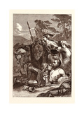 The Death of Marmion. (Scott.) Giclee Print by Edward Armitage
