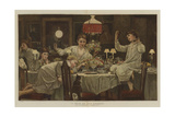 A Raid on the Dessert Giclee Print by Edward Killingworth Johnson