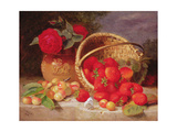 Still Life of Basket with Strawberries and Cherries, 1898 Giclee Print by Eloise Harriet Stannard