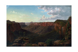 Govett's Leap and Grose River Valley, Blue Mountains, New South Wales, 1873 Giclee Print by Eugen von Guerard