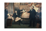 The Signing of the Alaskan Treaty, 1867 Giclee Print by Emanuel Gottlieb Leutze