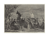 Whitefield Preaching in Moorfields, Ad 1742 Giclee Print by Eyre Crowe