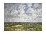 Berck, Cloudy Landscape, 1882 Giclee Print by Eugene Louis Boudin