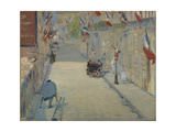 The Rue Monsier with Flags, 1878 Giclee Print by Edouard Manet