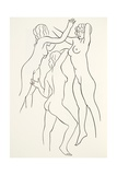 Three Female Nudes, 1938 Giclee Print by Eric Gill