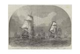 The Baltic Fleet Leaving Spithead Giclee Print by Edwin Weedon