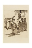 Line in Front of the Butcher Shop, 1870 Giclee Print by Edouard Manet
