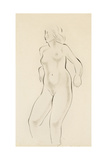 Study of a Female Nude Giclee Print by Eric Gill