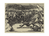 Indian Sketches, Human Tigers at the Mohurrum Festival Giclee Print by Edward John Gregory
