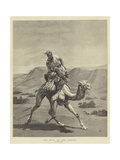 The Post of the Desert Giclee Print by Emile Jean Horace Vernet