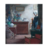A Brittany Antique Shop, 1911 Giclee Print by Ernest Procter