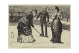 Spring Meeting of the All England Croquet Club at Wimbledon Giclee Print by Edward Frederick Brewtnall