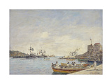 Villefranche Harbour, 1892 Giclee Print by Eugene Louis Boudin