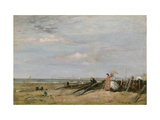 A Beach Scene at Trouville, 1860s Giclee Print by Eugene Louis Boudin