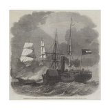 Destruction of the Federal Merchantman Harvey Birch by the Confederate War-Sloop Nashville Giclee Print by Edwin Weedon
