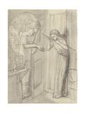 Clerk Saunders Giclee Print by Elizabeth Eleanor Siddal