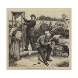 On the Road to the Derby, the Punch and Judy Man Giclee Print by Edward Frederick Brewtnall