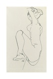 Prostrate Female Nude, 1913 Giclee Print by Egon Schiele
