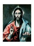 Cristo Salvator Mundi, C.1600 Giclee Print by  El Greco