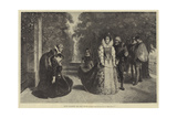 Queen Elizabeth and Mary Stuart Giclee Print by Ernesto Fontana