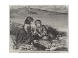 Children on the Coast Giclee Print by Edward John Cobbett