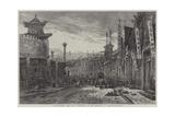 Circular-Street, Pekin Giclee Print by Eduard Hildebrandt