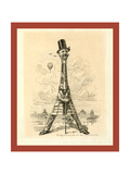 M. Eiffel, Our Artist's Latest Tour De Force, June 29, 1889 Giclee Print by Edward Linley Sambourne