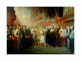 Coronation of Queen Victoria Giclee Print by Edmund Thomas Parris