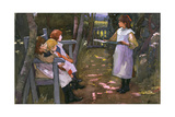 Children in a Garden Giclee Print by Elizabeth Adela Stanhope Forbes